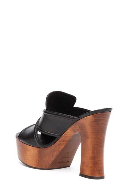 SAINT LAURENT 'Clog' 75  tucson/gold officier sandals