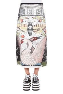 GUCCI Printed silk satin skirt