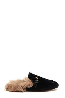 GUCCI Velvet 'Princetown' slipper