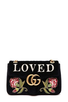 GUCCI gg marmont 2.0 in velluto con patch