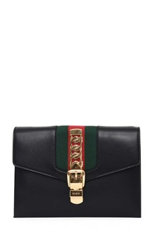 GUCCI Leather 'Sylvie' clutch