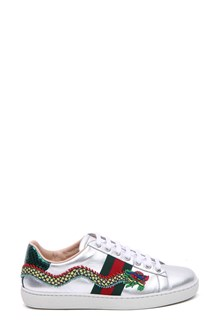 GUCCI Metallic leather Ace sneaker