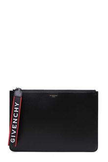 GIVENCHY pouch canvas e pelle coated canvas