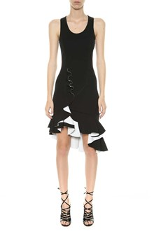 GIVENCHY Flared black/white midi dress