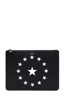 GIVENCHY pouch stars print on leather