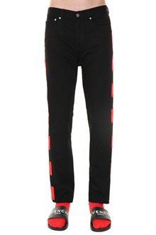 GIVENCHY jeans nero patch rossi
