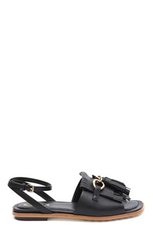TOD'S Fringed flat sandal