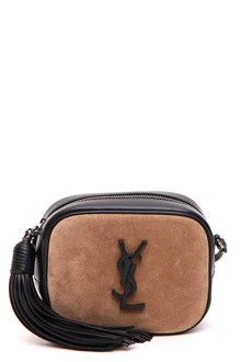 SAINT LAURENT 'Blogger bag' in pelle e scamosciato bicolor