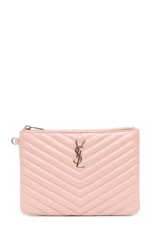 SAINT LAURENT Quilted leather Monogramme pouch