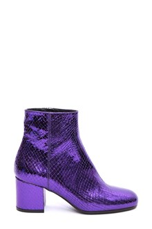 PARIS TEXAS Fake snake leather ankle boots