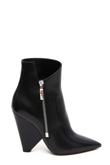 SAINT LAURENT 'Niki' booties with asymmetric top