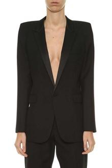 SAINT LAURENT Squared shoulder blazer