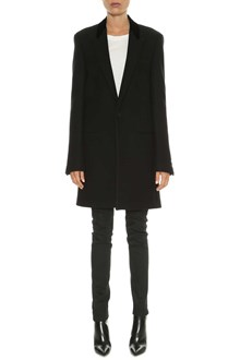 SAINT LAURENT One button coat with lapels