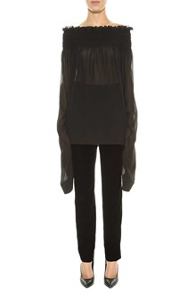 SAINT LAURENT top maniche oversize collo con elastico