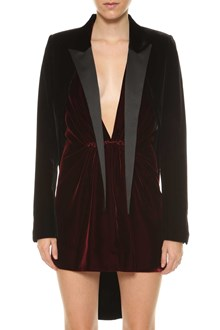 SAINT LAURENT Velvet tailcoat blazer