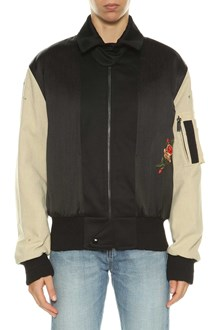 SAINT LAURENT giubbotto bomber saint laurent retro e maniche contrasto