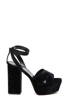 SAINT LAURENT sandalo velluto