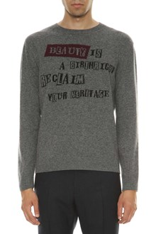 VALENTINO Knitted sweater with writings