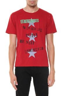 VALENTINO t-shirt stampa con 3 stelle destroyed