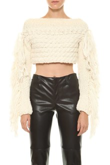 PHILOSOPHY di LORENZO SERAFINI Cropped sweater with fringes