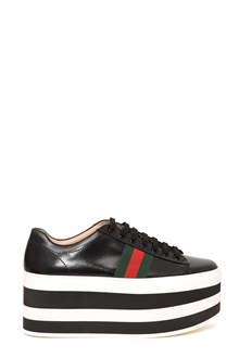 GUCCI 'Peggy' sneaker with striped platform