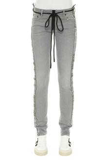 OFF-WHITE jeans con banda laterale logata