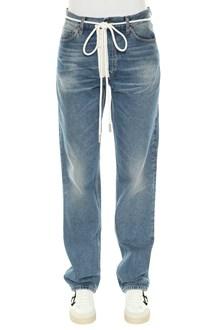 OFF-WHITE jeans levis zip bianca