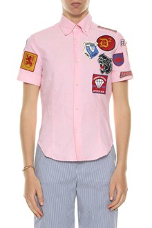 DSQUARED2 Camicia maniche corte con patch