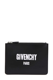 GIVENCHY Leather pouch with logo