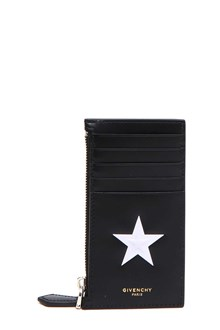 GIVENCHY Leather card holder with star