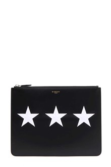 GIVENCHY Leather pouch with stars
