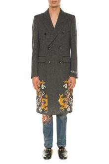 GUCCI Herringone tweed coat