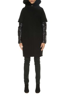 HERNO Wool coat with quilted jacket underneath