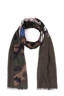 VALENTINO Camouflage print stole