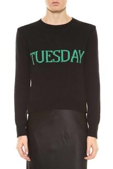 ALBERTA FERRETTI Sweater with 'Tuesday' writing