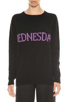 ALBERTA FERRETTI Sweater with 'Wednesday' writing