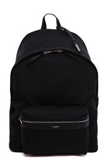 "SAINT LAURENT ""Giant City"" backpack in canvas nylon and leather"