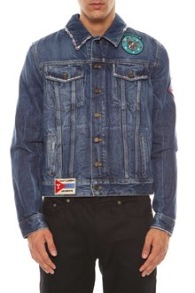 SAINT LAURENT Denim jacket with patches