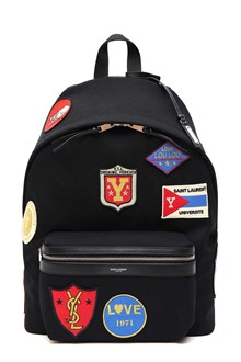 SAINT LAURENT Backpack with patches