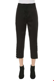 FENDI Cropped pants with bottom slits