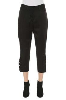 FENDI Cropped pants with bottom slits