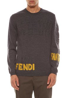 FENDI Intarsia writings pull
