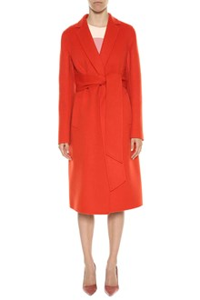 BOTTEGA VENETA Long coat in cashmere double fabric