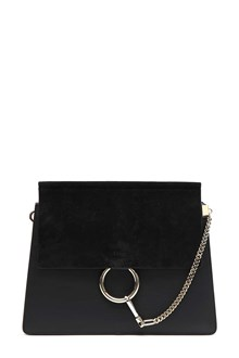 CHLOÉ 'Faye' shoulder bag in black calfskin