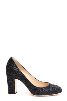 JIMMY CHOO 'Billie' decolletè in black glitter fabric