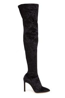 JIMMY CHOO Over-the-knees boots in velvet