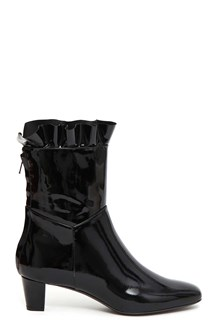 PHILOSOPHY di LORENZO SERAFINI Patent leather bootie with frill