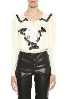 PHILOSOPHY di LORENZO SERAFINI Blouse with lace collar and jabot