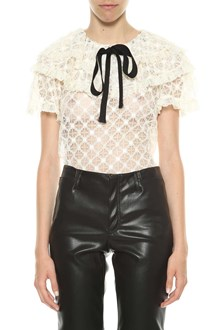 PHILOSOPHY di LORENZO SERAFINI Lace blouse with black bow