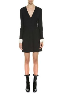 PHILOSOPHY di LORENZO SERAFINI Short dress with lace cuffs